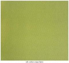 silk cotton crepe fabric