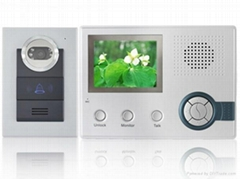 3.5inch wireless video door phone+ record+ alarm function+ rainproof