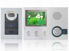 3.5inch wireless video door phone+ record+ alarm function+ rainproof