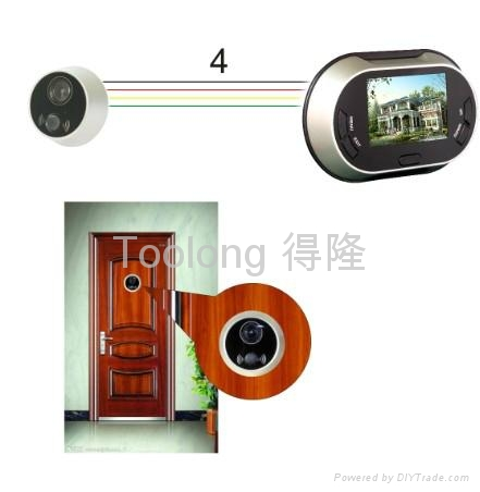 Cheap sell 3.5inch digital door viewer with memory 1