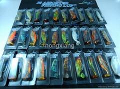 Wholesale 30pcs/lot Plastic soft lure beautiful and high qulity soft lures