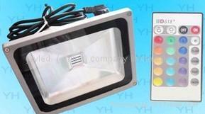 調控帶RGB的投光燈 2