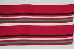 運動服單層收邊彩條羅紋