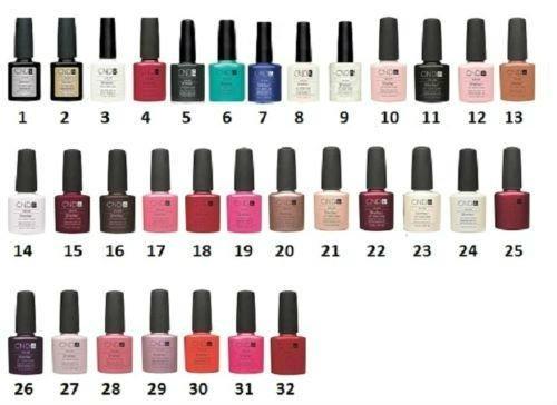 CND Nail Shellac Color Chart