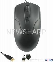 6D gaming wired mouse with colorful lights