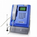 Wireless indoor GSM coin payphone for