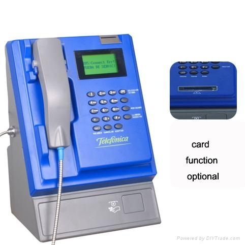 Wireless indoor coin&card payphone  1
