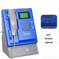 Wireless indoor coin&card payphone