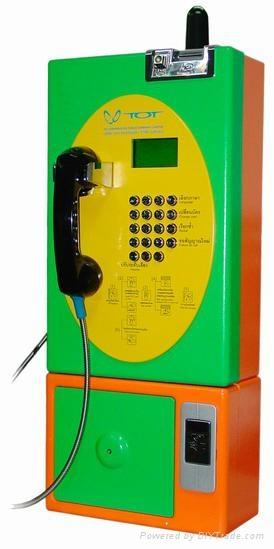Guanri:Wireless Old fashion telephone coin payphone  1