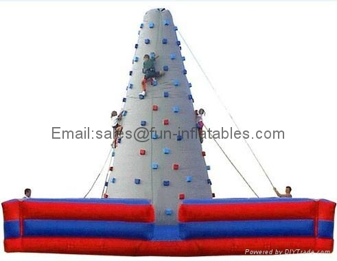Inflatable climbing wall in various designs 1