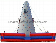 Inflatable climbing wall in various designs