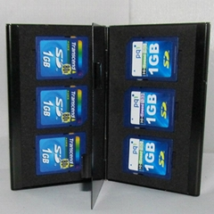 Aluminum Memory Card Holder Case SD for 6 x SD memory card
