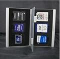 Siliver Aluminum Memory Card Holder Case