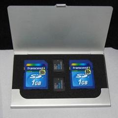 Aluminum Memory Card Holder Case box for sd micro sd card