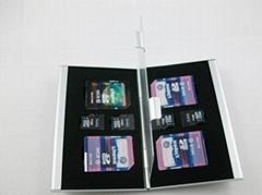 Aluminum Memory Card Holder Case SD/MICRO SD CARD