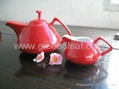 Red China Tea set