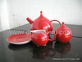 Red China Tea set 2
