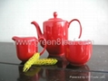 Red China Tea set 3