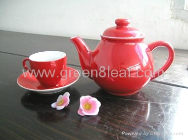 Red China Tea set 4