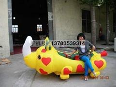 儿童充气电瓶车