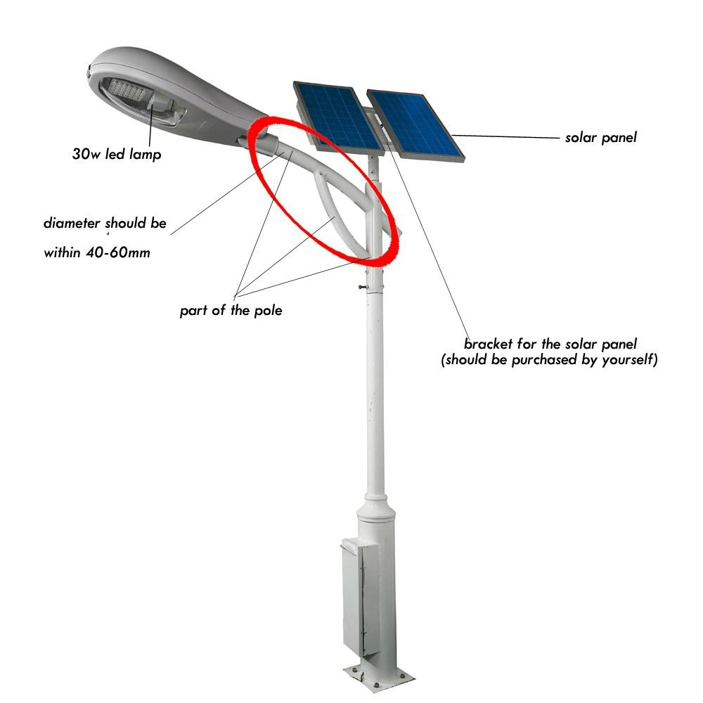Solar Street Light Solar Outdoor Lighting Clsf 040w