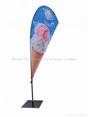 Flying banner beach flag