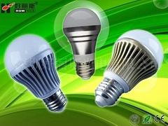 压铸铝LED球泡灯PC塑料灯罩
