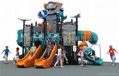 戶外儿童塑料組合滑梯