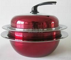 多彩汤蒸  锅