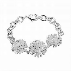 Free shipping 925 silver plated fireworks charm bracelets
