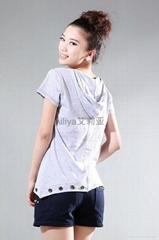 带帽韩版女装短袖T恤8521#