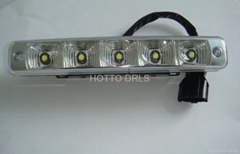 D30   5*1w led aluminum  LED DRL WITH TURN OFF FUNCTION