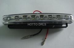 D80 8*0.1w led FLASH LED PLASTIC DRL TURN OFF STYLE