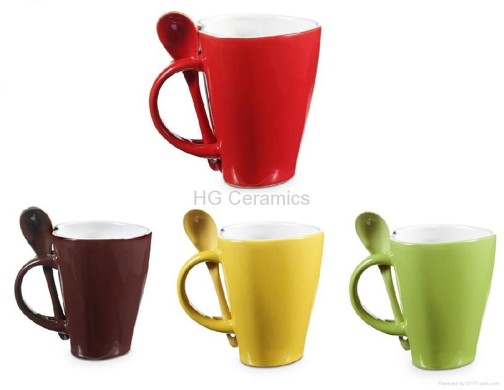 Heart Shaped Spoon Mug H G Ceramics China Manufacturer