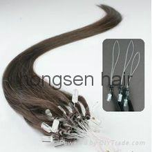 micro ring hair extension ,fish-line hair extension 3