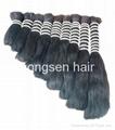 double drawn remy hair bulk 2