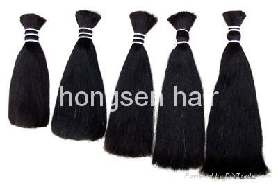 double drawn remy hair bulk 3
