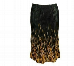 Skirts - Satin Mini Pleat - Calf Length