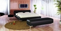 soft leather bed