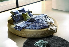 European style leather bed