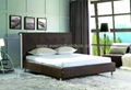 modern soft leather bed