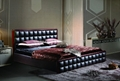 Genuine leather bed