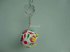 football key chain with national flag