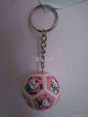 足球鑰匙扣 卡通