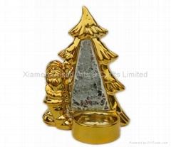 Ceramic Christmas Tree Candle Holder