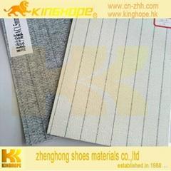 Waterproof stripe insole board  nonwoven insole board