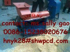corn stripping and shelling machine