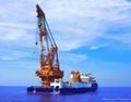 Revo  ing floating crane barge for sale rent 1