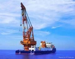 Revolving floating crane barge for sale rent