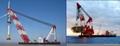 Revo  ing floating crane barge for sale rent 2